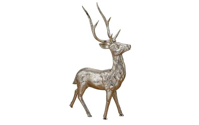 Figur Hirsch in silber, 91 cm