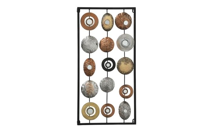Wand-Objekt Elliot in metallic,  61x 31 cm