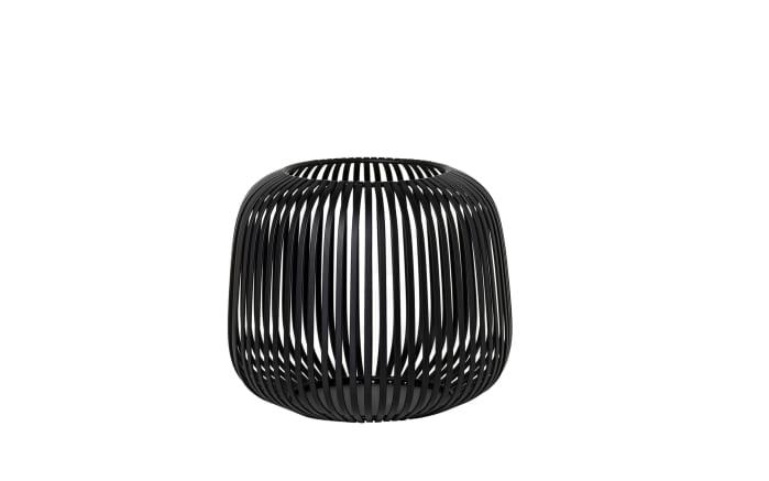 Laterne Lito in schwarz, 20,8 x 17,5 x 20,8 cm-01