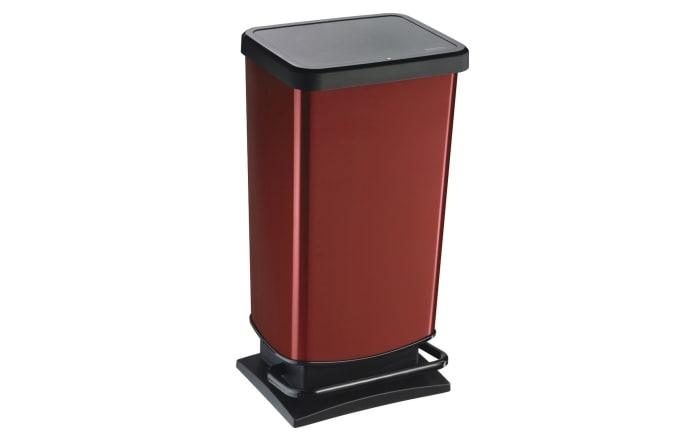 Tretabfalleimer Paso in rot metallic, 40 l