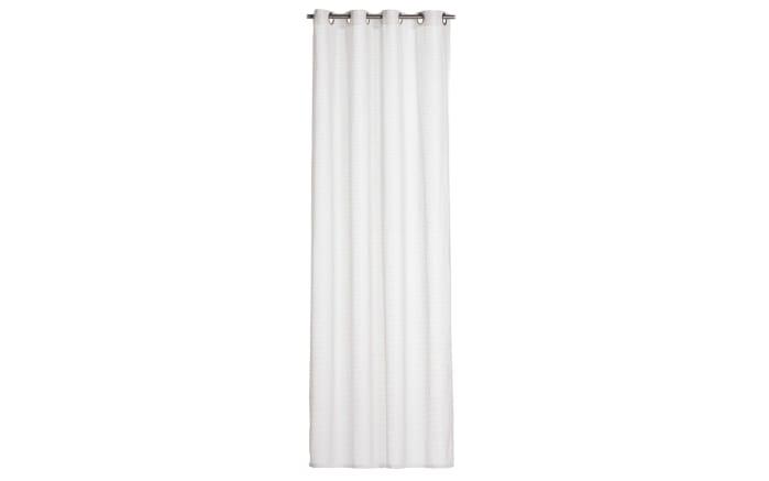 Ösenschal Willow in weiß, 140 x 245 cm