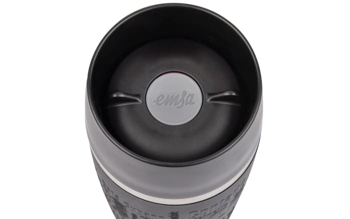 Iso-Trinkbecher Travel Mug in schwarz, 0,36 l