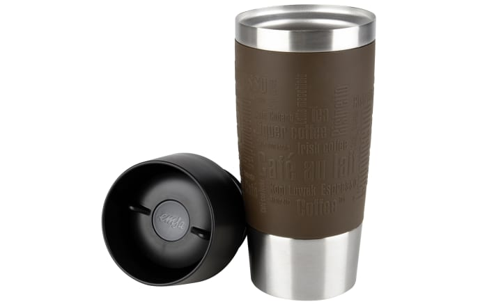 Iso-Trinkbecher Travel Mug in braun, 0,36 l