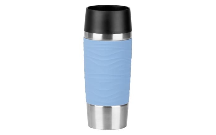 Iso-Trinkbecher Travel Mug Waves in puderblau, 0,36 l