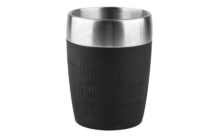 Isobecher Travel Cup in schwarz, 0,2 l