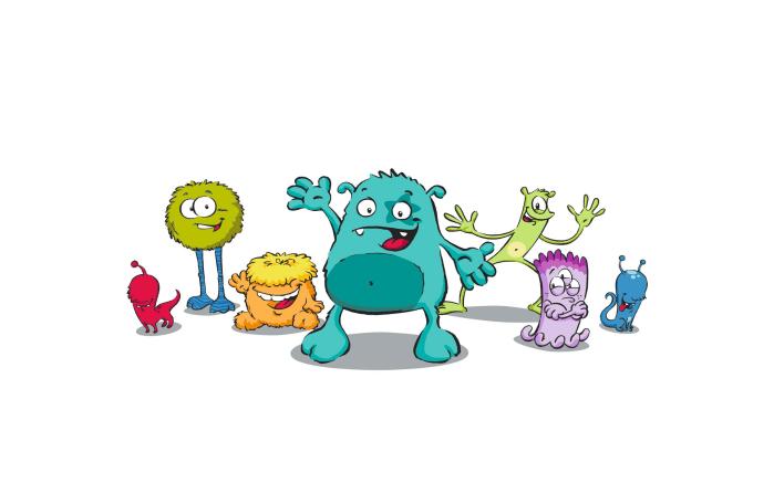 Kindertrinkglas Kids mit Motiv: Monster, 0,2 l