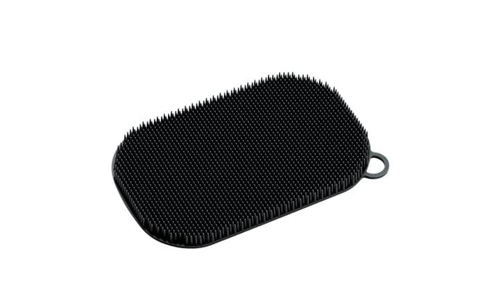 Silikonschwamm in schwarz, 13 x 8 cm