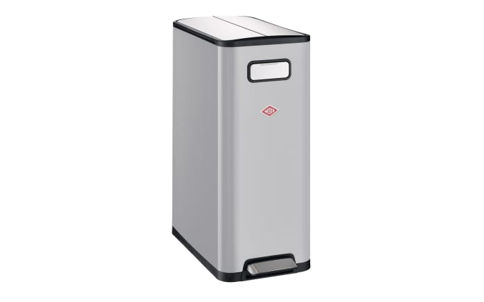 Mülleimer Big Double Master in grau, 40 l