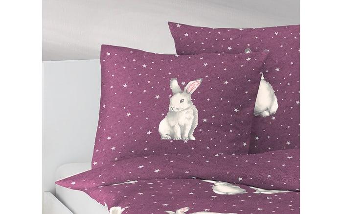 Dekokissen Hase in lila, 45 x 45 cm