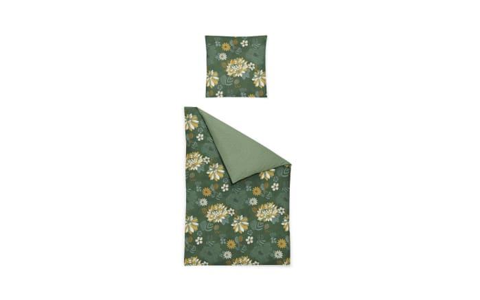 Bettwäsche Mako-Satin EOS in grün, 155 x 220 cm-01