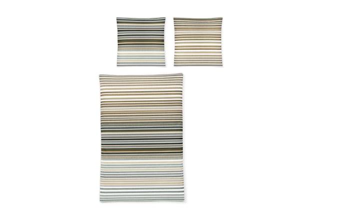 Bettwäsche EOS gestreift in grün, 155 x 220 cm