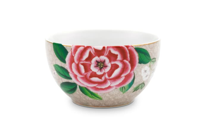Bowl Blushing Birds in khaki, 9,5 cm