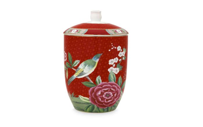 Storage Jar Blushing Birds in rot, 1,5 L