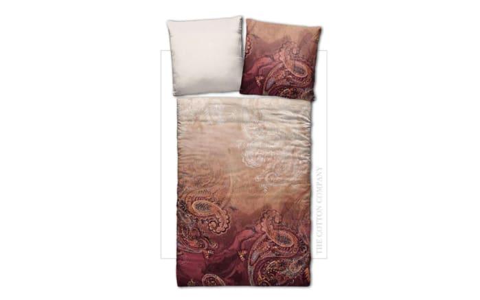 Wendebettwäsche Paisley in rot, 135 x 200 cm