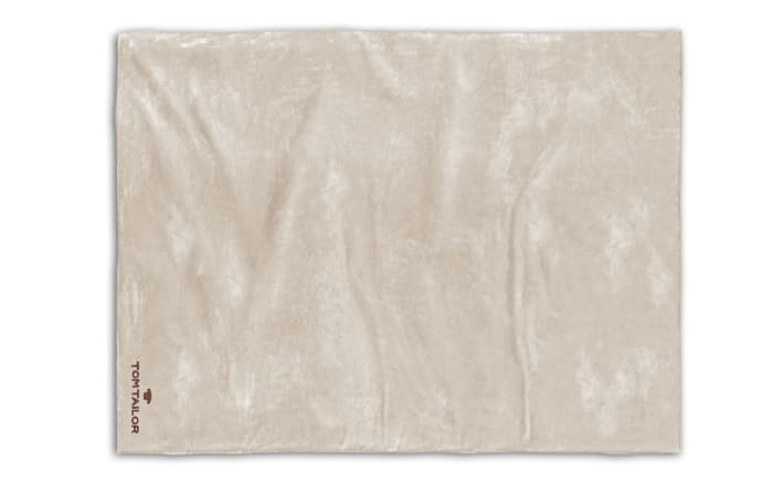 Corall-Fleece-Decke in creme