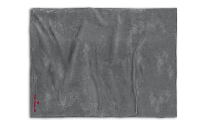 Fleece-Decke in dunkelgrau, 150 x 200 cm