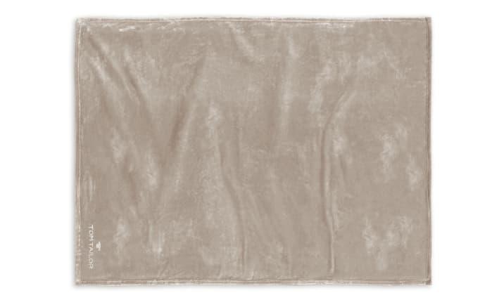 Fleece-Decke Tom Tailor in taupe, 150 x 200 cm