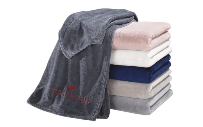 Fleece-Decke Tom Tailor in rose, 150 x 200 cm