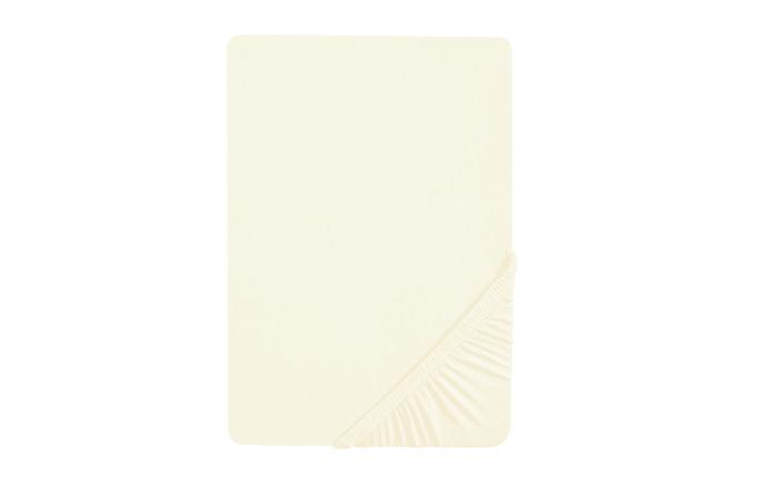 Boxspring-Spannbetttuch in creme, 180 x 200 cm