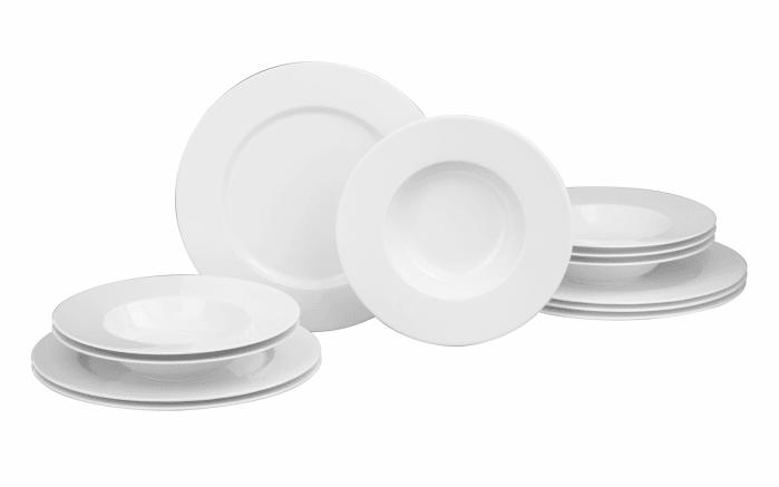 Tafelservice No Limits Rund in weiß, 12-teilig