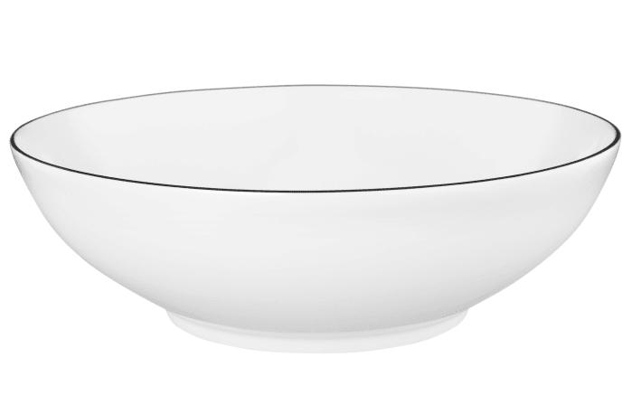 Schüssel Lido Black Line in weiß, 23 cm