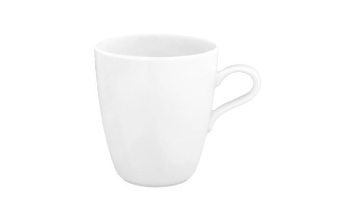 Becher mit Henkel Life in weiß, 0,4 l