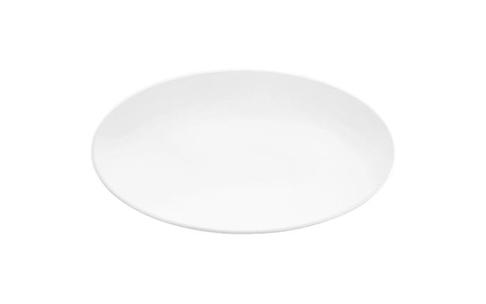 Servierplatte Life in weiß, 33 x 18 cm