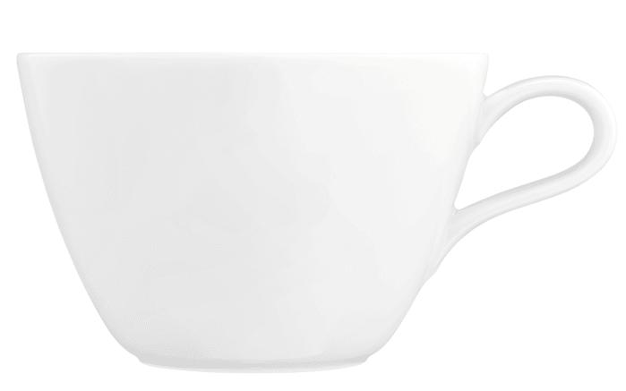 Milchkaffeeobertasse Life in weiß, 0,37 l