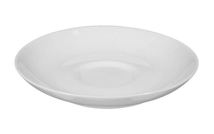 Espressountertasse Rondo Liane in weiß, 12 cm