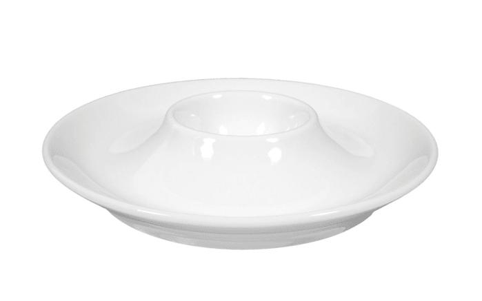 Eierbecher mit Ablage Rondo Liane in weiß, 13 cm