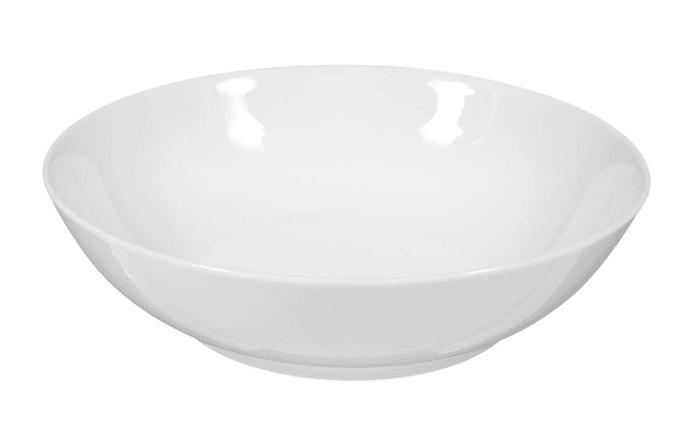 Salatschale Rondo Liane in weiß, 19 cm