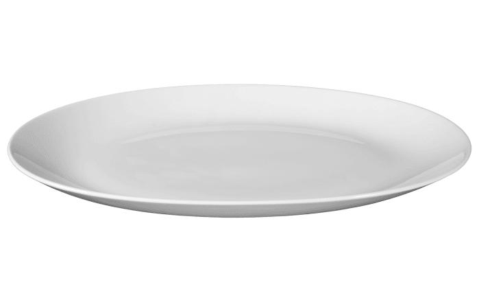 Servierplatte Rondo Liane in weiß, 38 cm