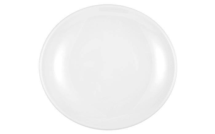 Teller Modern Life in weiß/oval, 21 cm