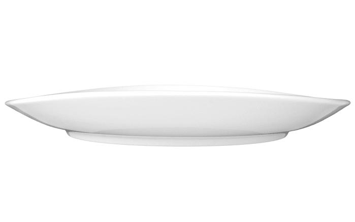 Teller Modern Life in weiß/oval, 27 cm