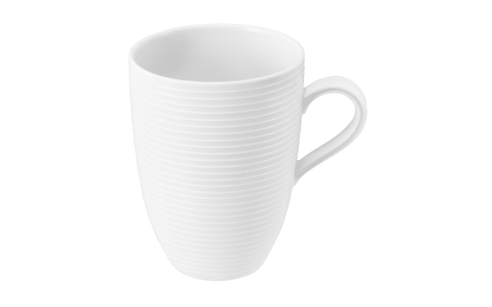 Becher mit Henkel Beat in weiß, 0,35 l
