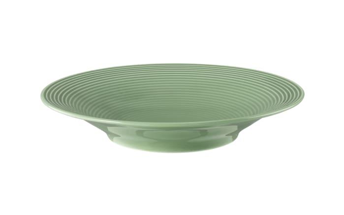 Suppenteller rund Beat in salbeigrün, 22,5 cm