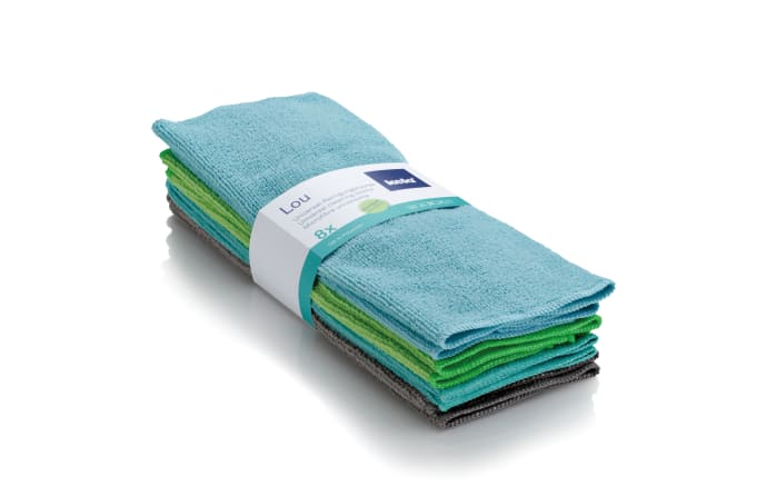 Reinigungstücher Lou in blau/grün, 8-teilig