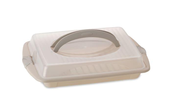 Tortenbutler Deli in opalgrau, 45 x 30 x 9 cm