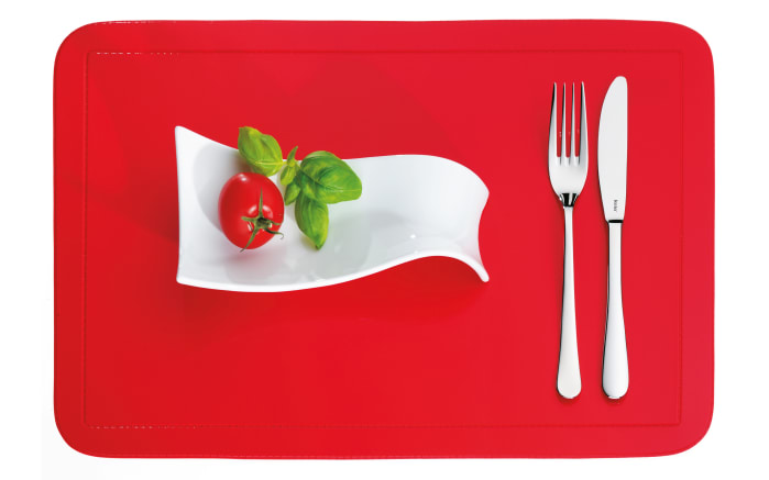 Tischset Uni in rot, 28.5 x 43.5 cm