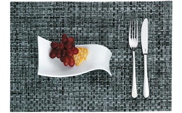Tischset Plato in schwarz-weiß, 45 x 30 cm