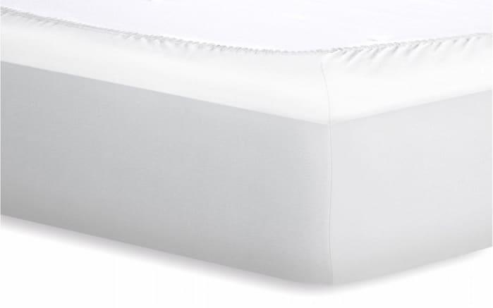 Spannbetttuch Jersey in weiß, 180 x 200 cm