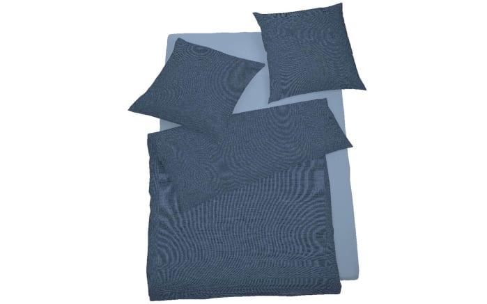 Bettwäsche Mako Satin Select in nachtblau, 155 x 220 cm