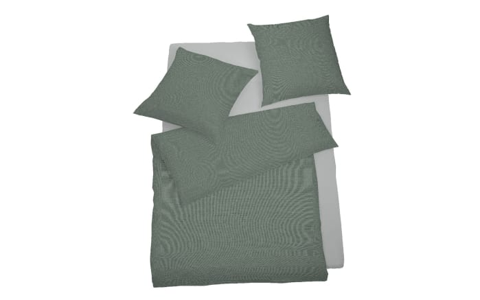 Mako-Satin Bettwäsche Select in seegrün, 135 x 200 cm
