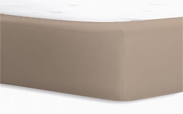 Boxspringspannbetttuch in taupe, 180 x 200 x 40 cm