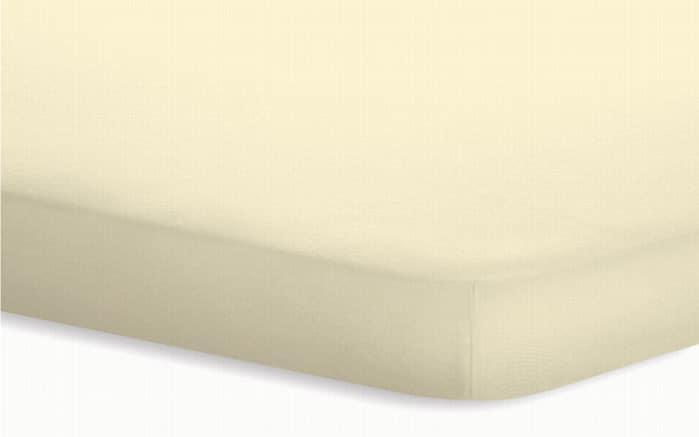 Topperspannbetttuch Jersey-Elasthan in ecru, 180 x 200 x 5 cm-01