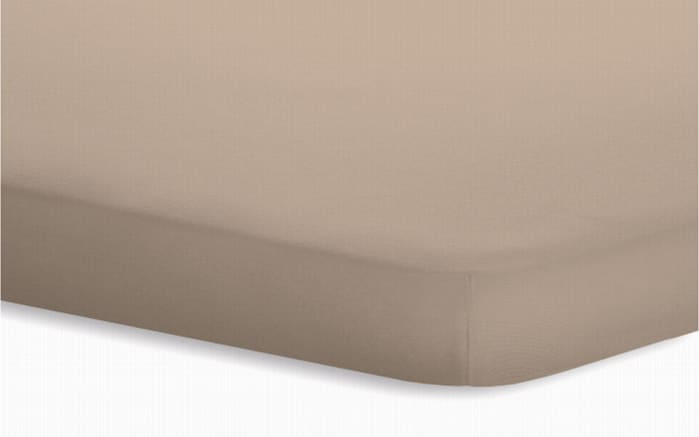Topperspannbetttuch Jersey-Elasthan in taupe, 180 x 200 x 5 cm