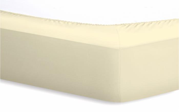 Spannbetttuch Basic in ecru, 140 x 200 x 25 cm-02