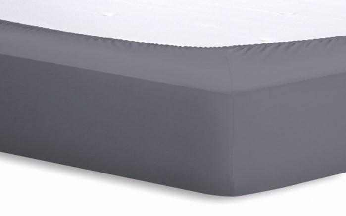 Spannbetttuch Basic in graphit, 140 x 200 x 25 cm-02