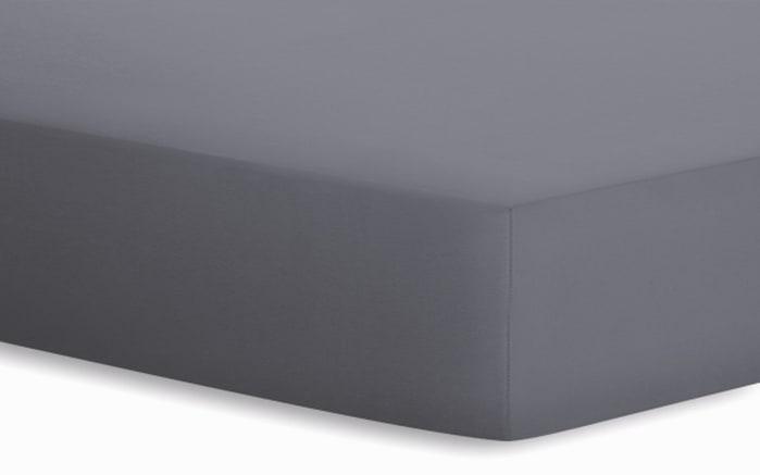 Spannbetttuch Basic in graphit, 140 x 200 x 25 cm-01