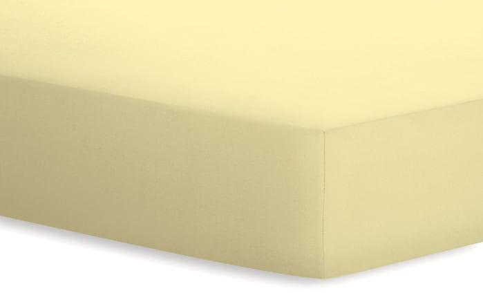 Spannbetttuch Basic in kamille, 140 x 200 x 25 cm